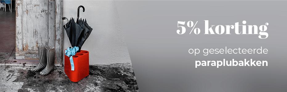 5% KORTING - PARAPLUBAKKEN