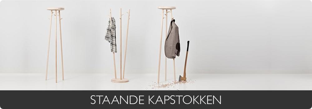 STAANDE KAPSTOKKEN - Diverse kleuren - Zilverkleur - Chroom / glans - Natuurlijke materiaalkleur