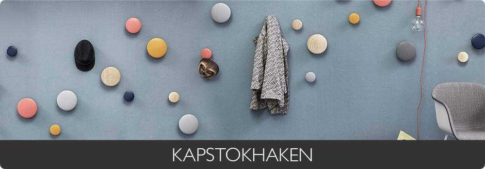 KAPSTOKHAKEN - Bruin - Blauw - Wit - Natuurlijke materiaalkleur