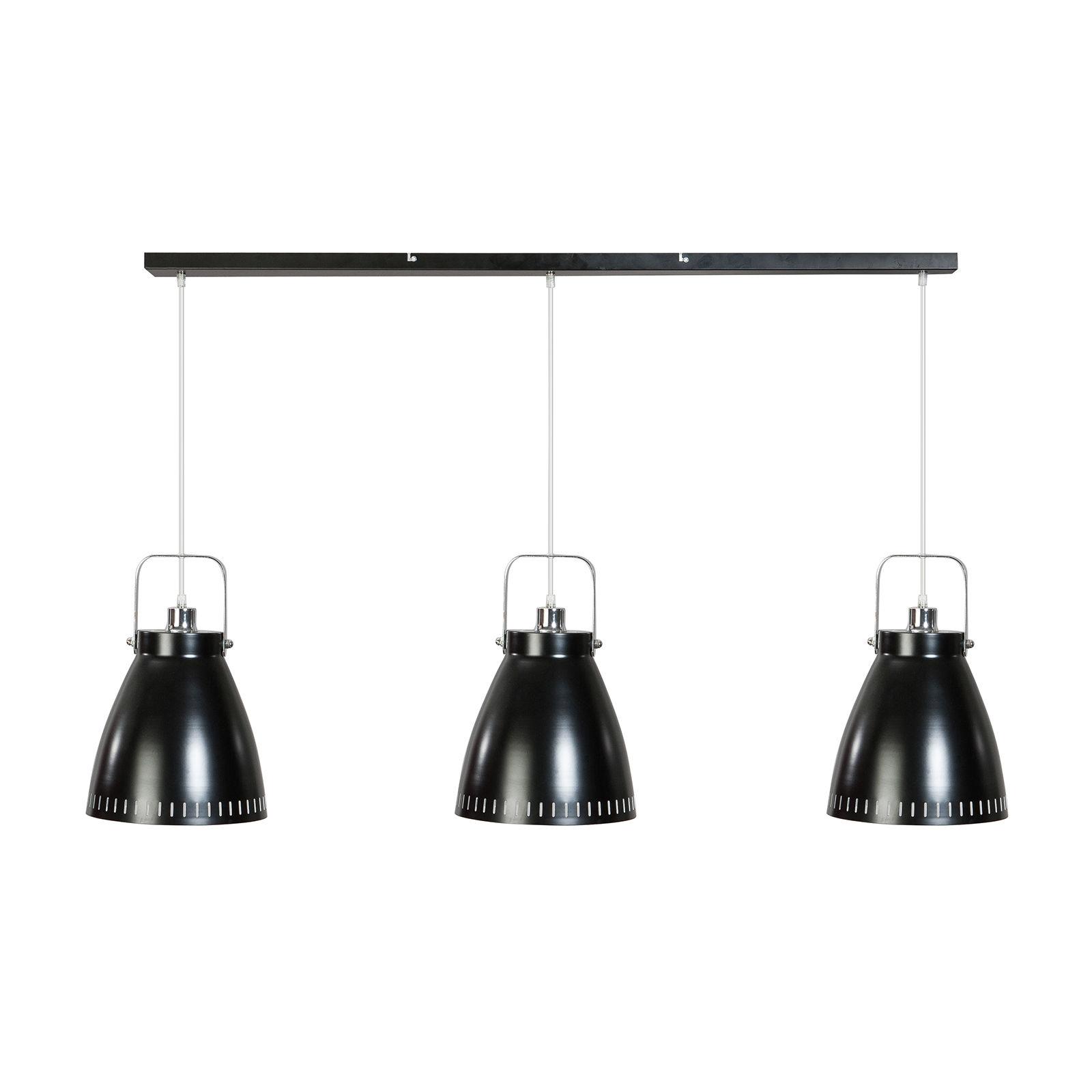 Acate hanglamp ETH chroom - zwart
