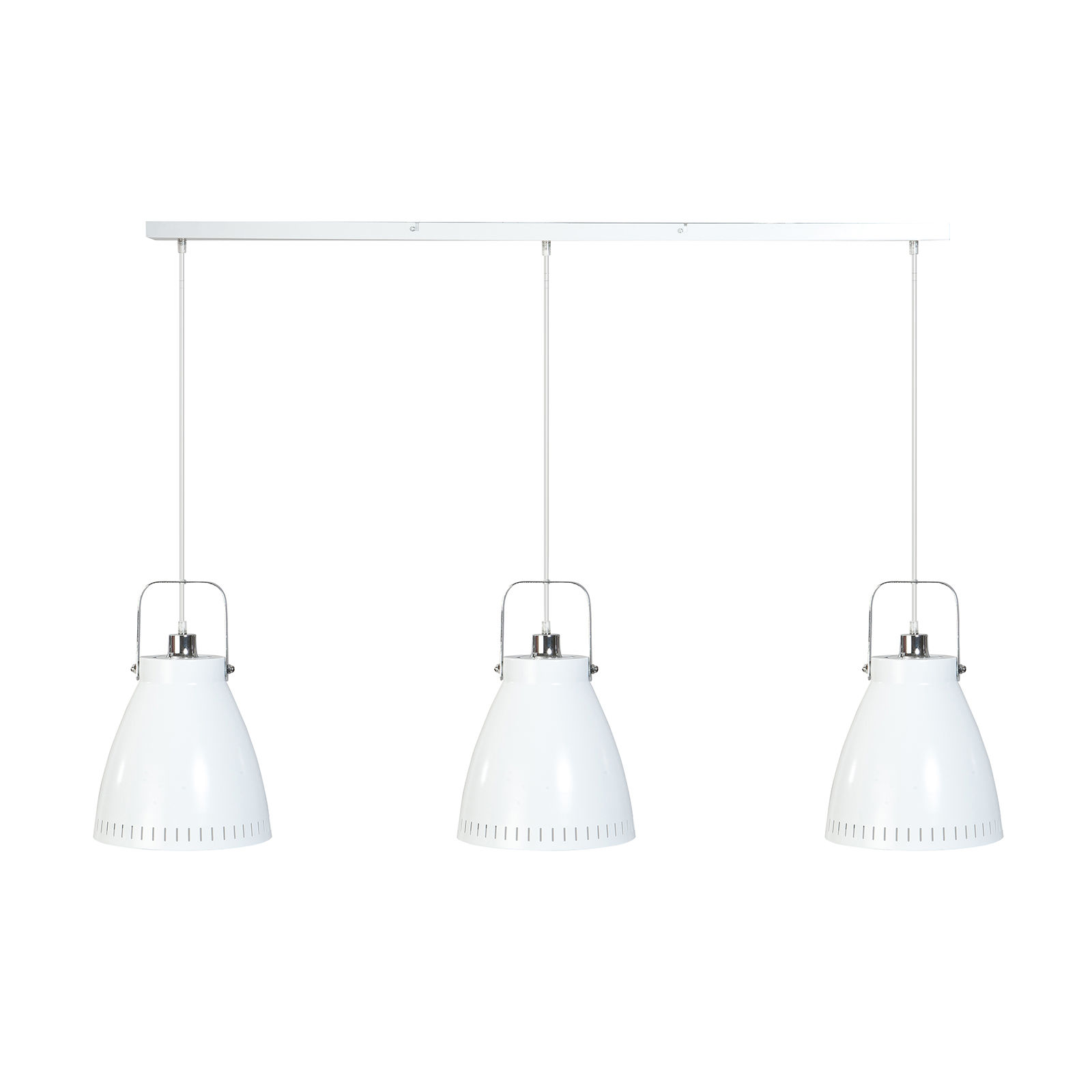 Acate hanglamp ETH chroom - wit