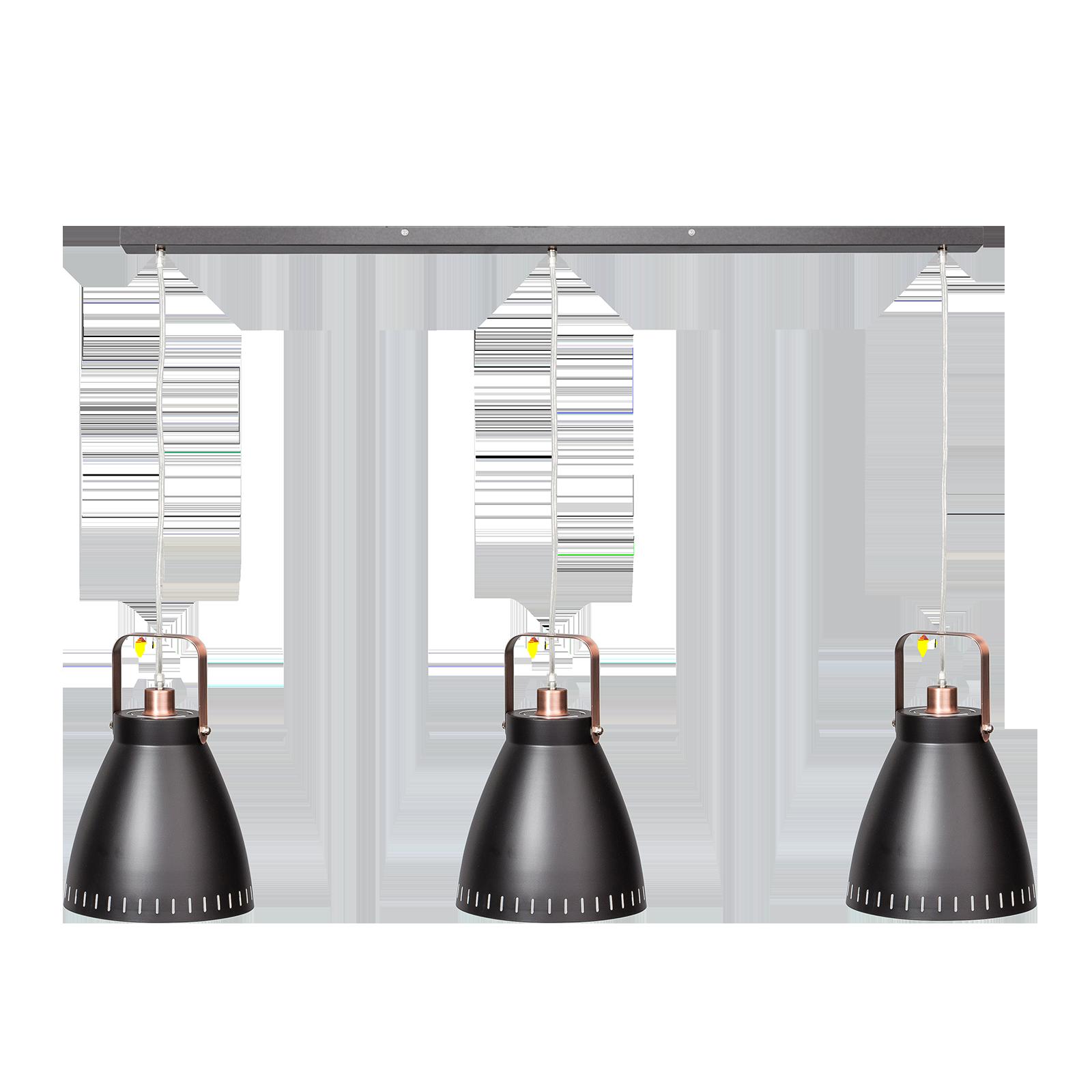 Acate hanglamp ETH koper - zwart