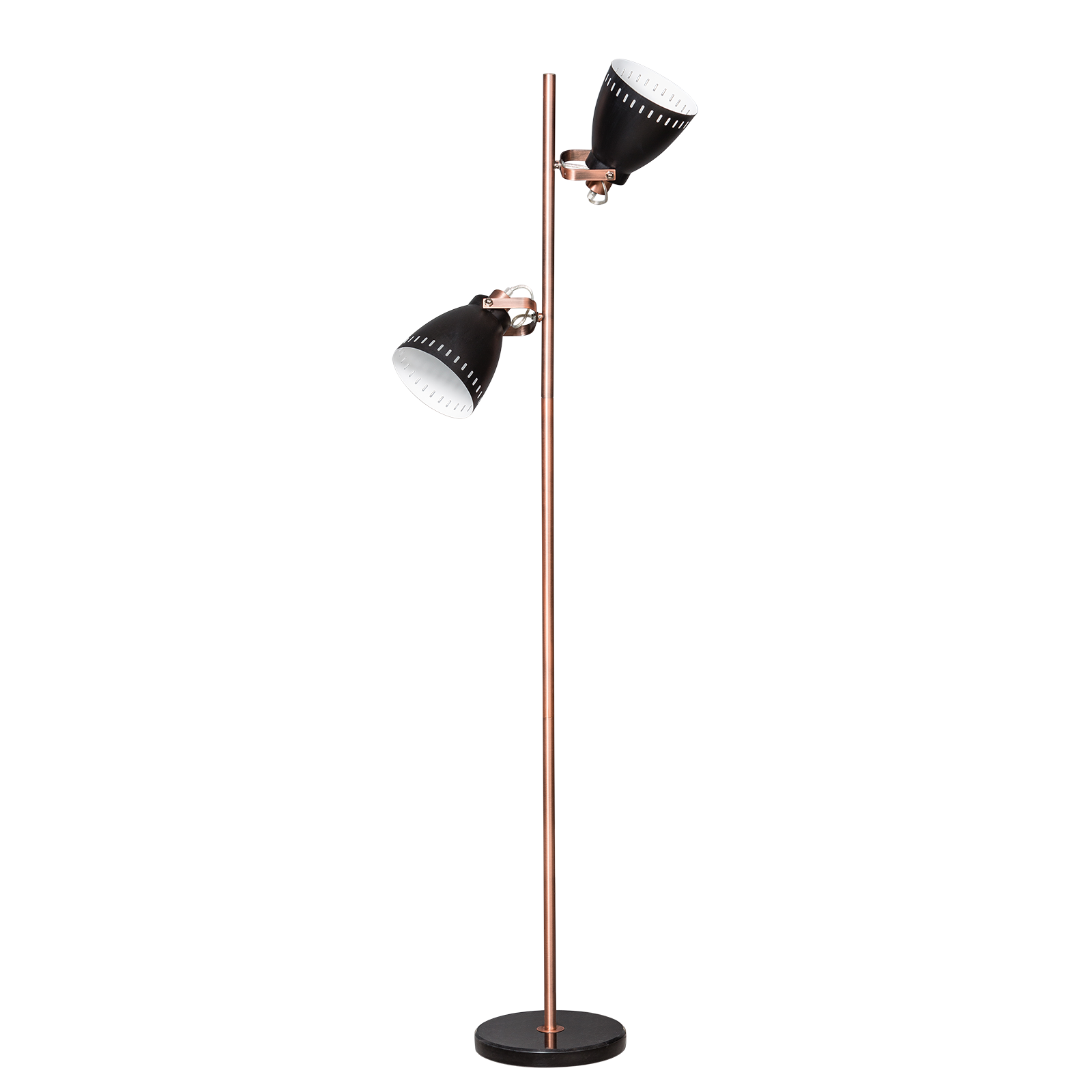 Acate vloerlamp ETH 2x zwart/koper