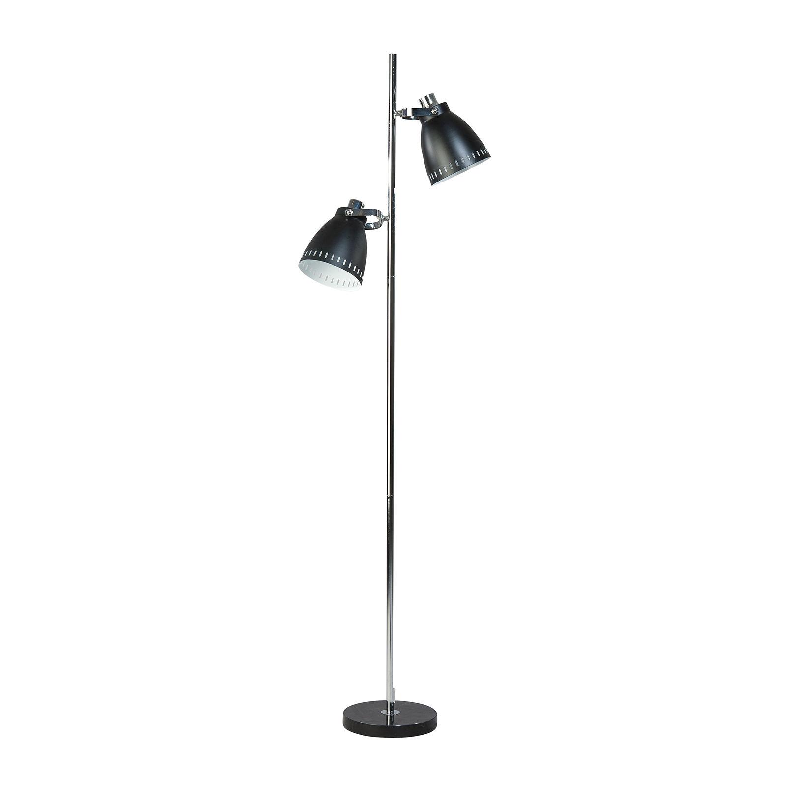 Acate vloerlamp ETH 2x zwart/chroom
