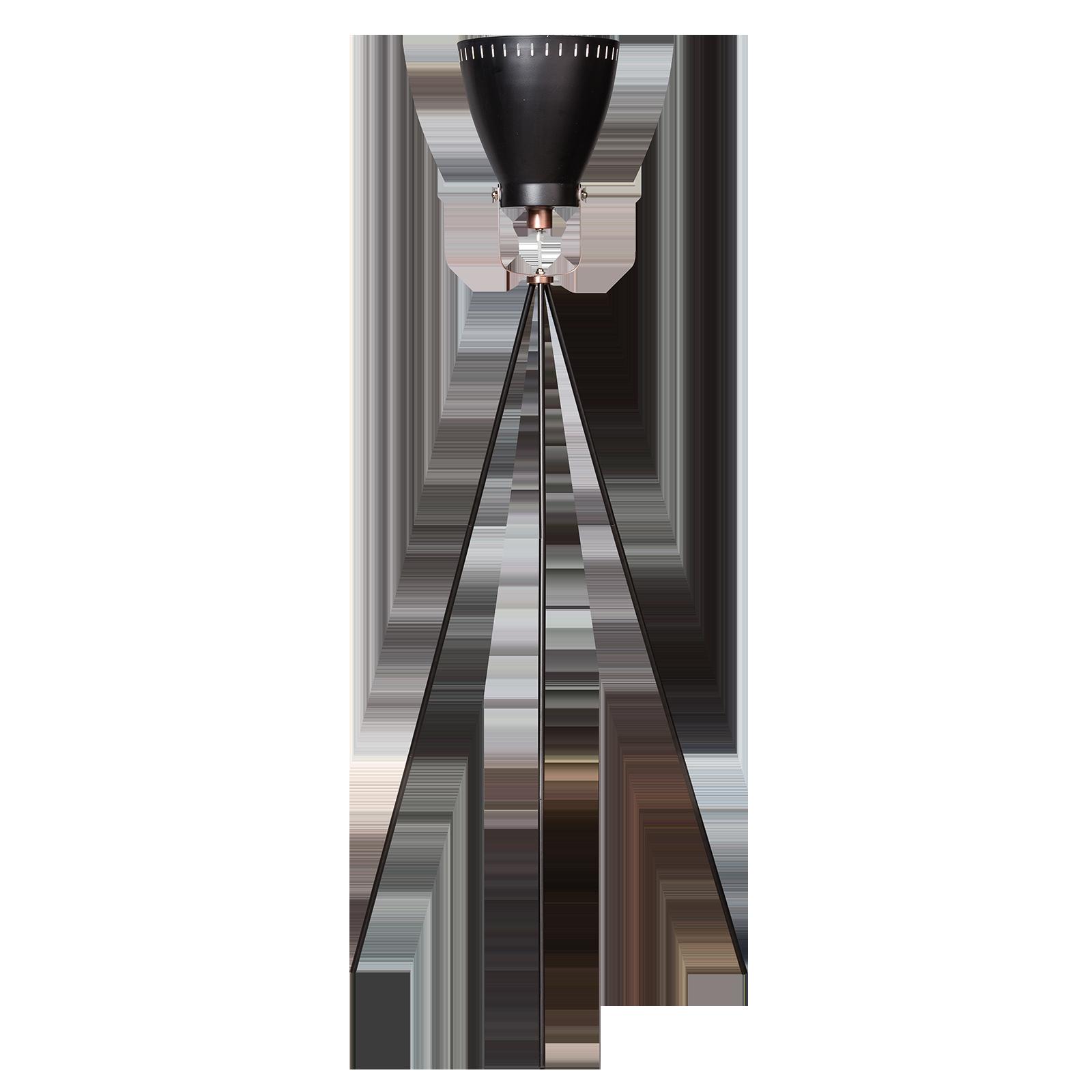Acate vloerlamp ETH driepoot zwart/koper