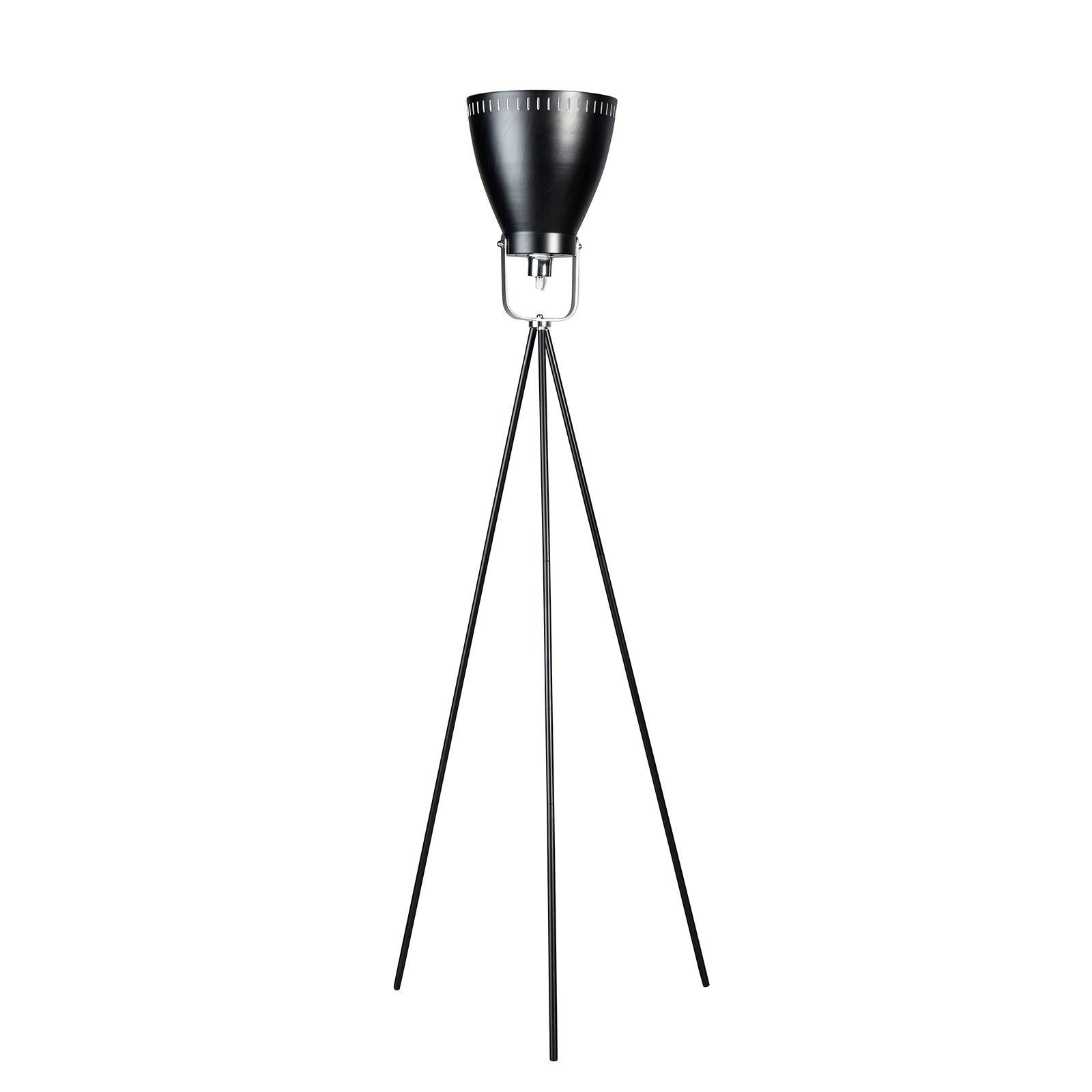 Acate vloerlamp ETH driepoot zwart/chroom