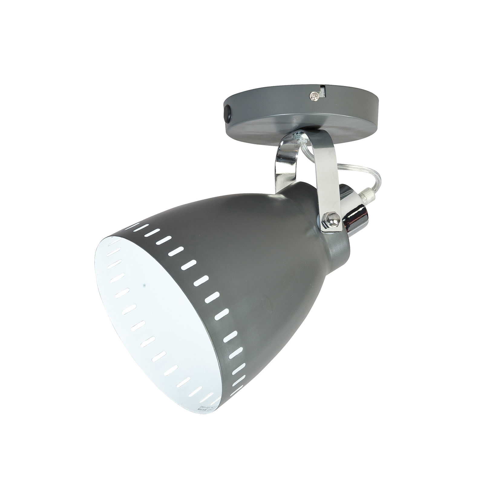 OUTLET - Acate plafondlamp ETH grijs/chroom