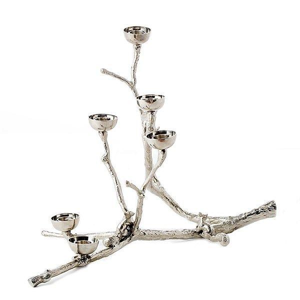 Twiggy With Squirrels kandelaar Pols Potten zilver