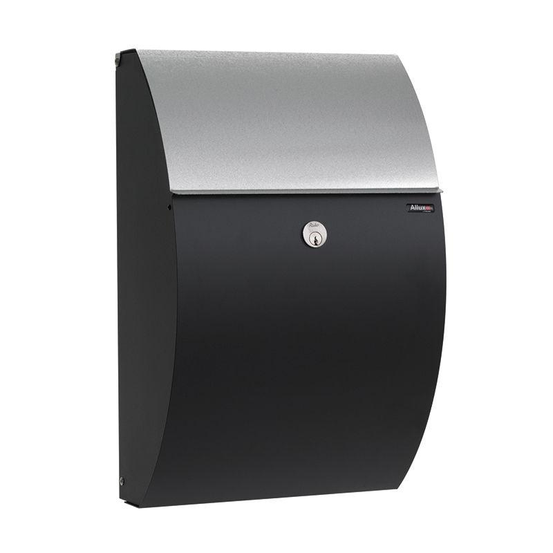 Type 7000 brievenbus Allux zwart - verzinkte briefklep