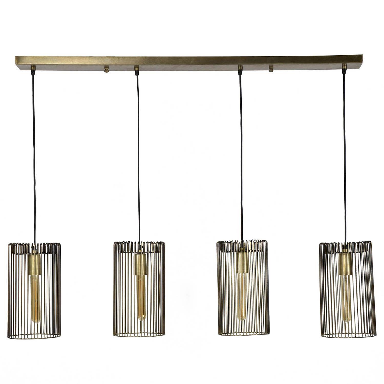 Cilinder hanglamp Kay antiek brons