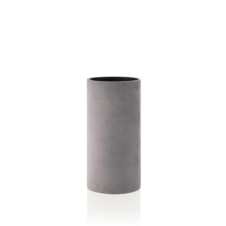 Coluna vaas Blomus medium donkergrijs