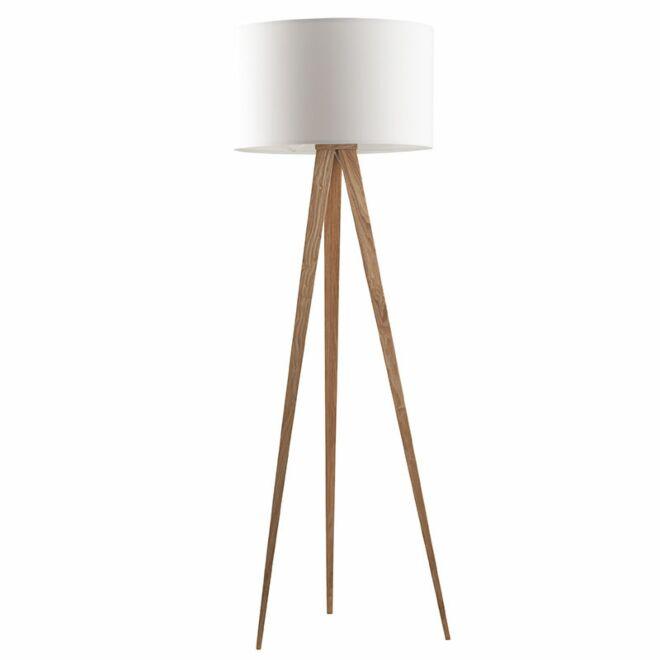 TriPod Wood vloerlamp Zuiver wit