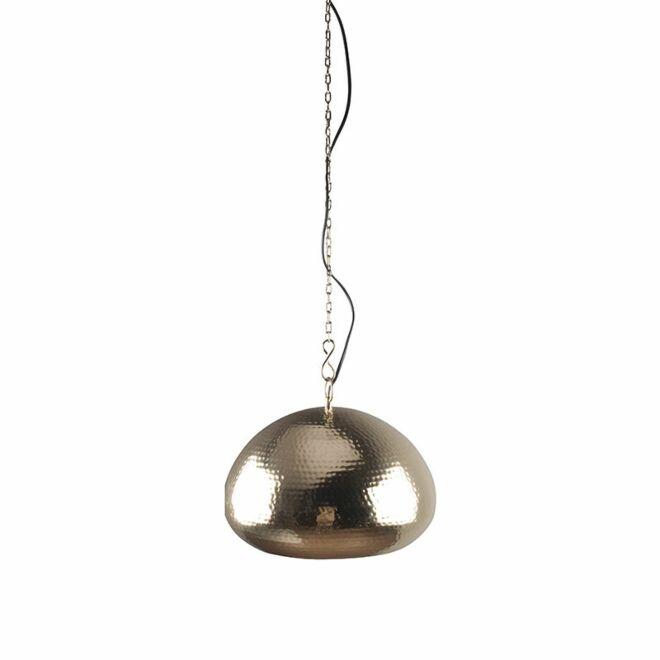 OP = OP - Hammered Oval hanglamp Zuiver goud