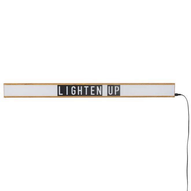 Saber wandlamp Zuiver letter display