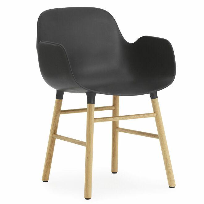 Form Armchair stoel Normann Copenhagen eiken zwart
