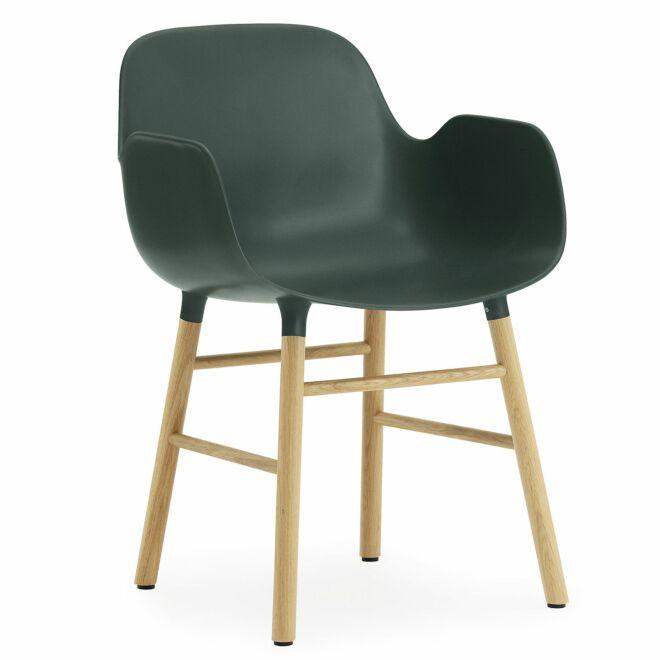 Form Armchair stoel Normann Copenhagen eiken groen