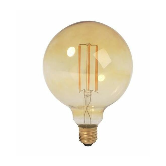 LED Filament Globe 125mm 4W GOLD dimbaar