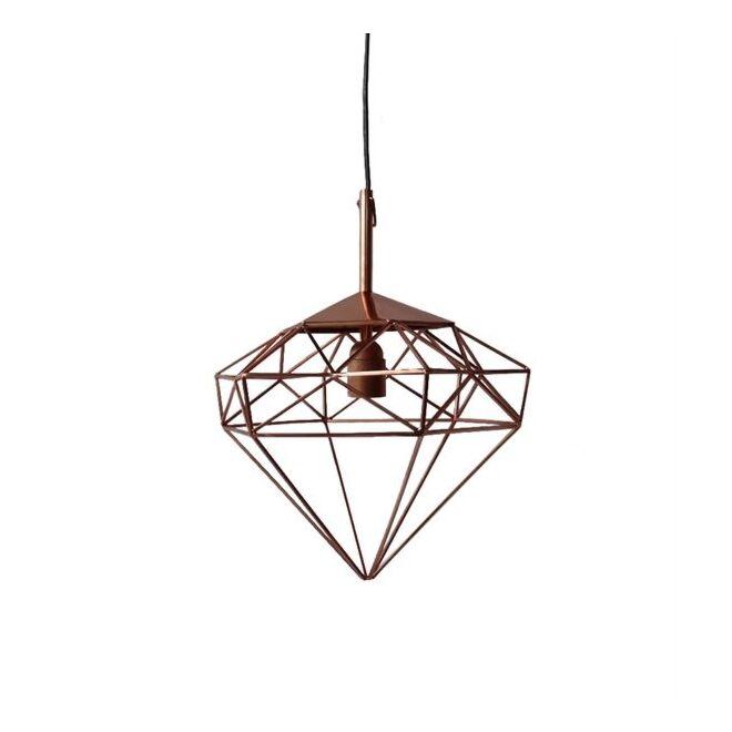 Diamond hanglamp Pols Potten copper small - VERHUIS SALE