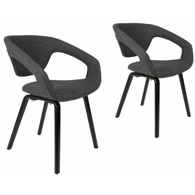 Flexback eetkamerstoel Zuiver donkergrijs/zwart