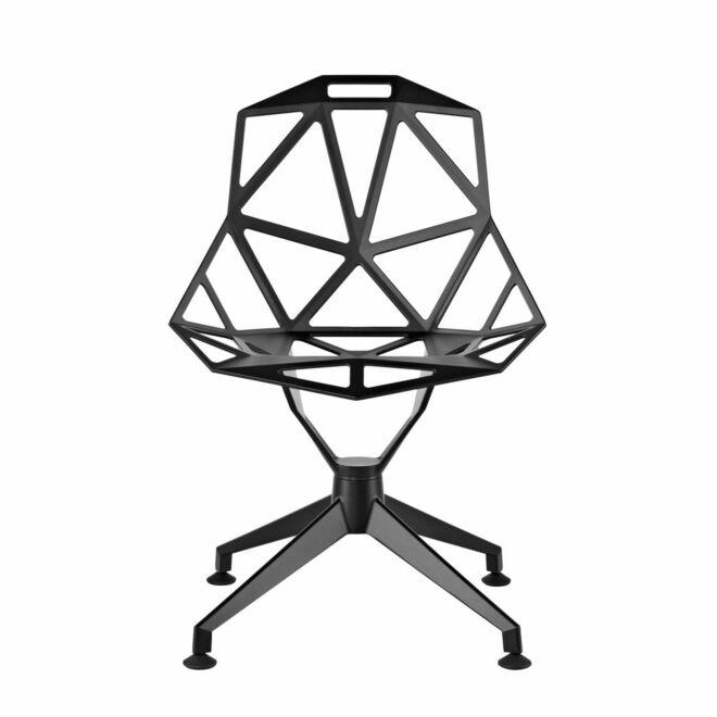 Chair_One eetkamerstoel Magis sterpoot zwart