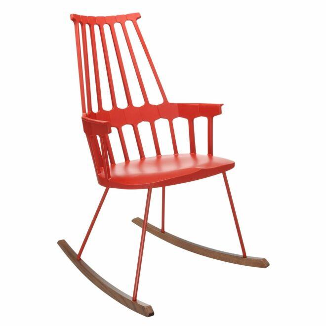 Comback schommelstoel Kartell oranjerood
