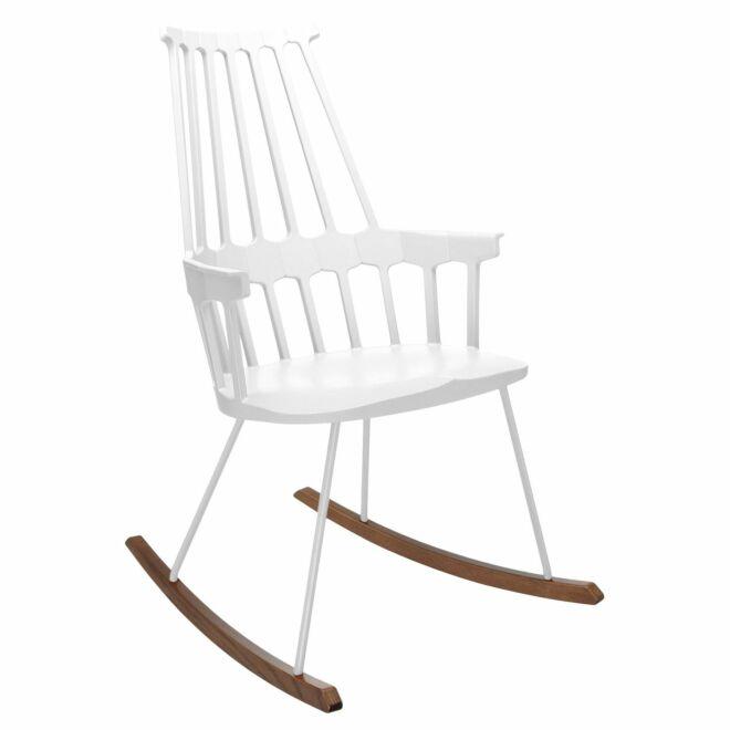 Comback schommelstoel Kartell wit