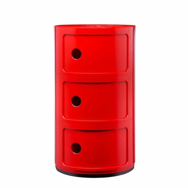 Componibili kast Kartell 3-deurs - rood