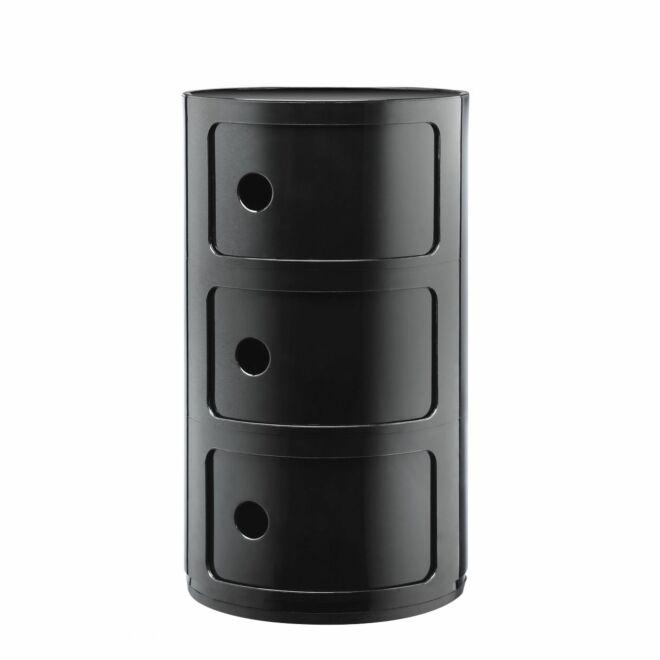 Componibili kast Kartell 3-deurs - zwart
