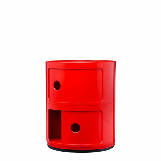Componibili kast Kartell 2-deurs - rood