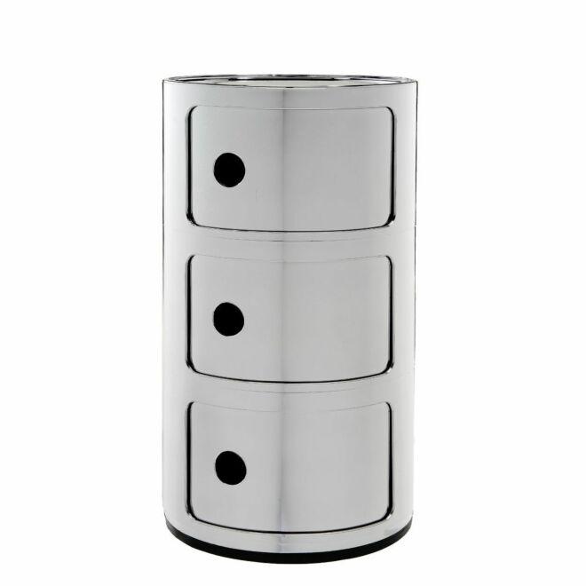 Componibili kast Kartell 3-deurs - chroom
