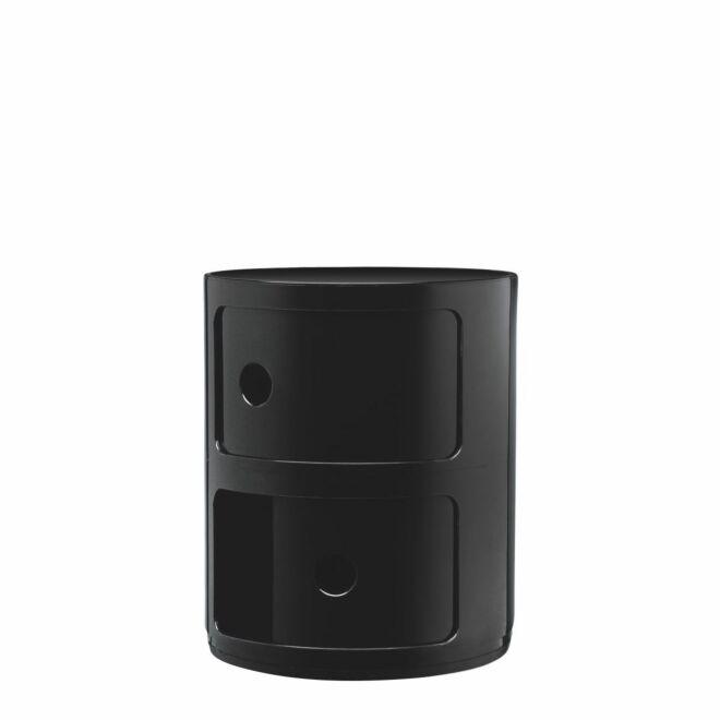 OP = OP - Componibili kast Kartell 2-deurs - zwart