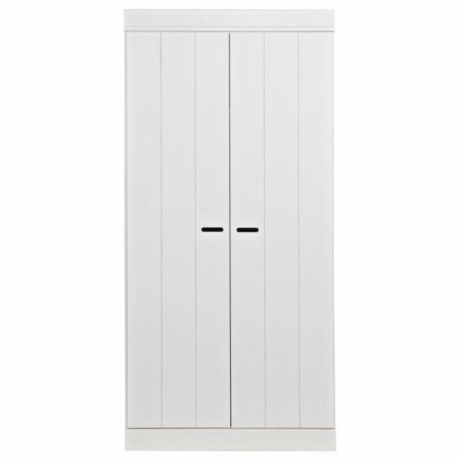 Connect kast Woood 2-deurs strokendeur wit