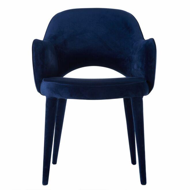 Cosy eetkamerstoel Pols Potten velvet blauw