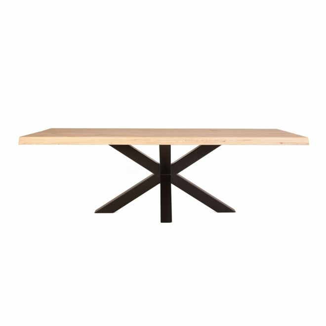 Oak & Steel eettafel Eleonora 200x100cm kruispoot