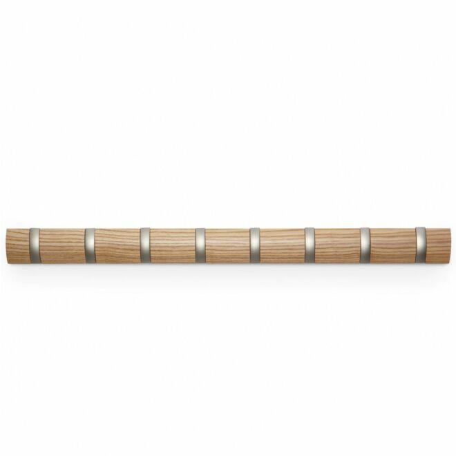 Flip 8 Hook wandkapstok Umbra hout naturel