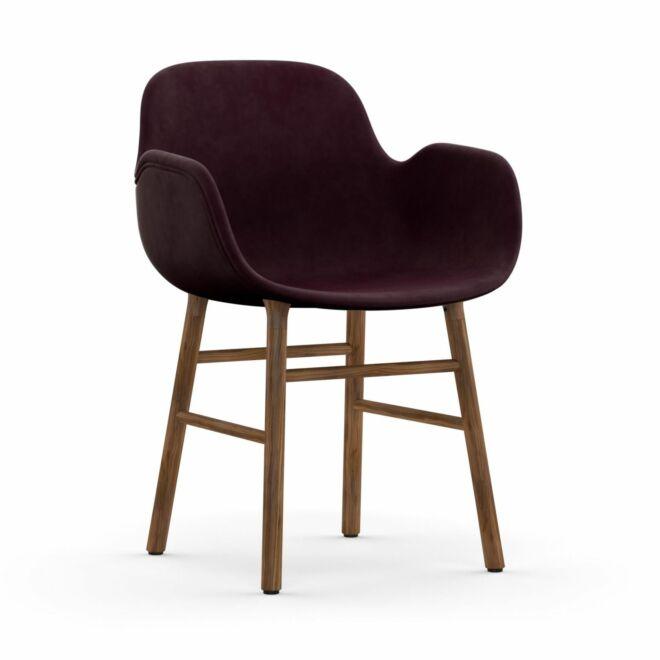 Form Armchair stoel Normann Copenhagen walnoot - velvet paars