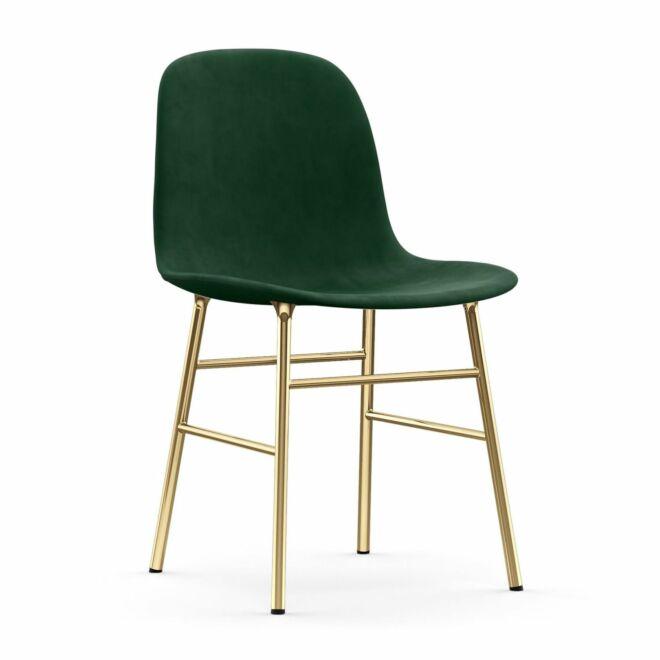 Form eetkamerstoel Normann Copenhagen messing - velvet groen