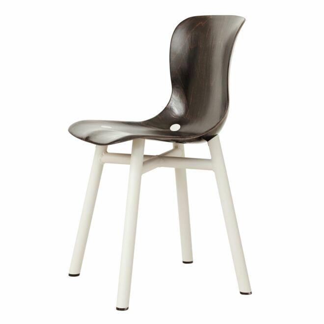 Wendela stoel Functionals donkere zitting - wit
