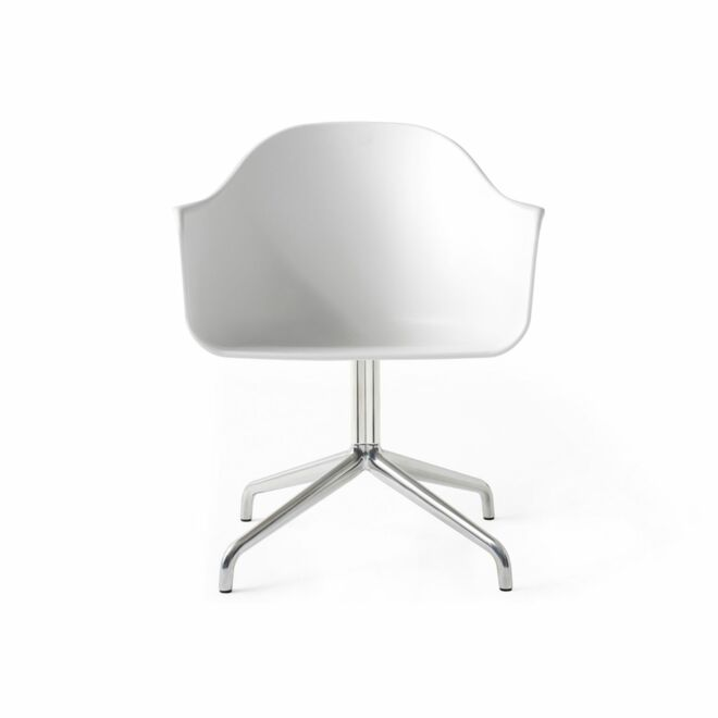 Harbour Swivel eetkamerstoel Menu aluminium - wit