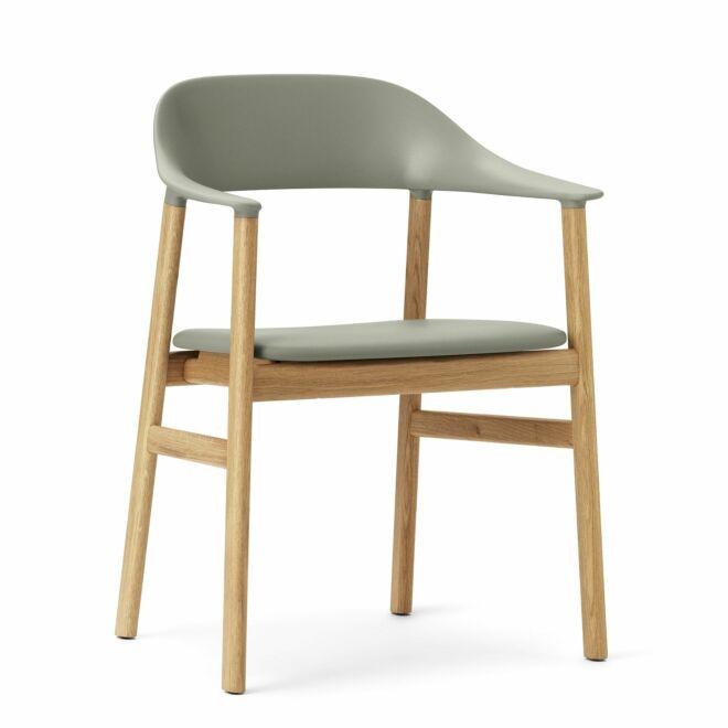 Herit Armchair stoel Normann Copenhagen naturel - leder groen