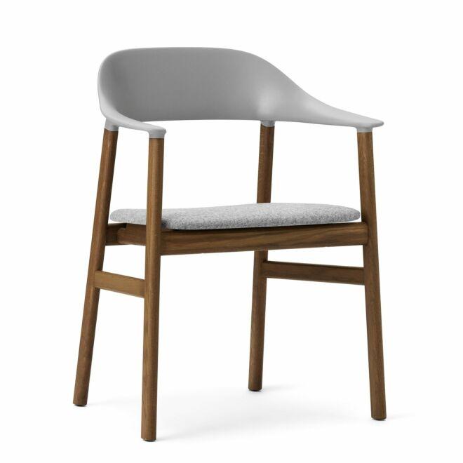 Herit Armchair stoel Normann Copenhagen gerookt - stof grijs