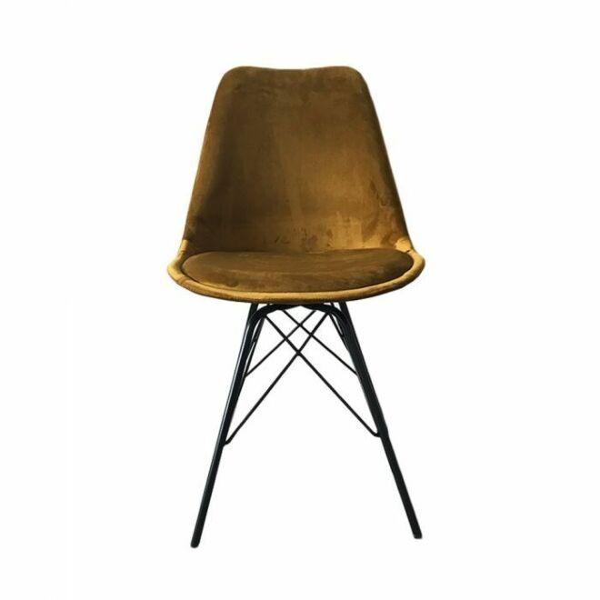 Velvet eetkamerstoel Kick Collection goud