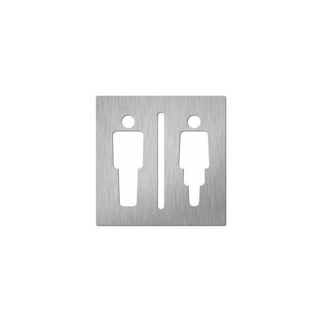 Man/vrouw pictogram Hardbrass