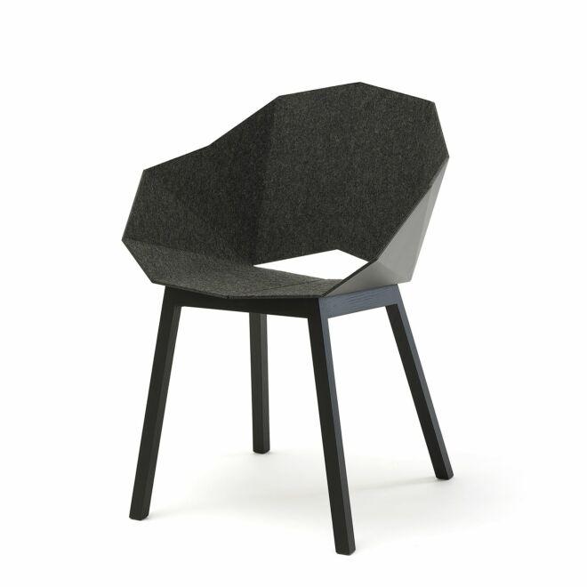 Seatshell eetkamerstoel Frederik Roijé donkergrijs - vilt