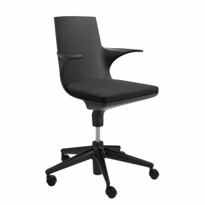 Spoon bureaustoel Kartell zwart