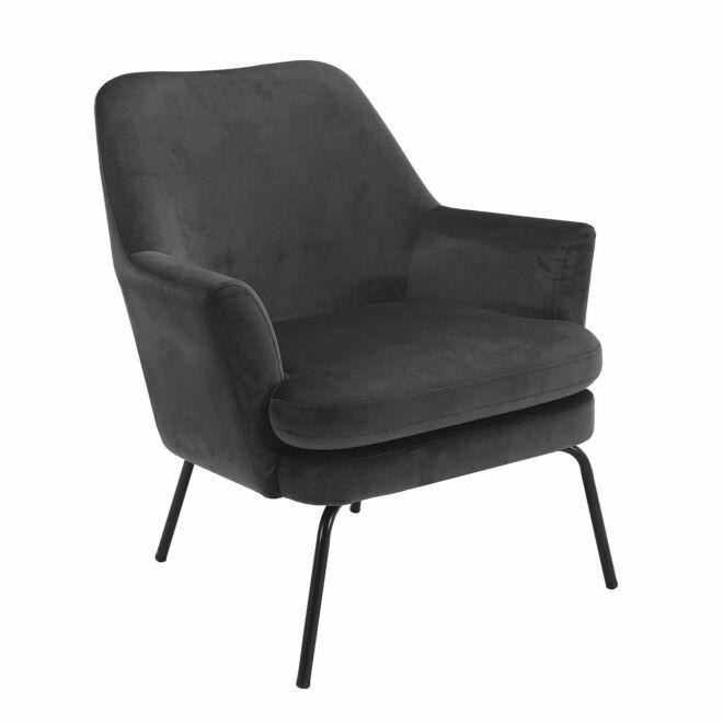 Terpol fauteuil Liv zwart - VIC donkergrijs