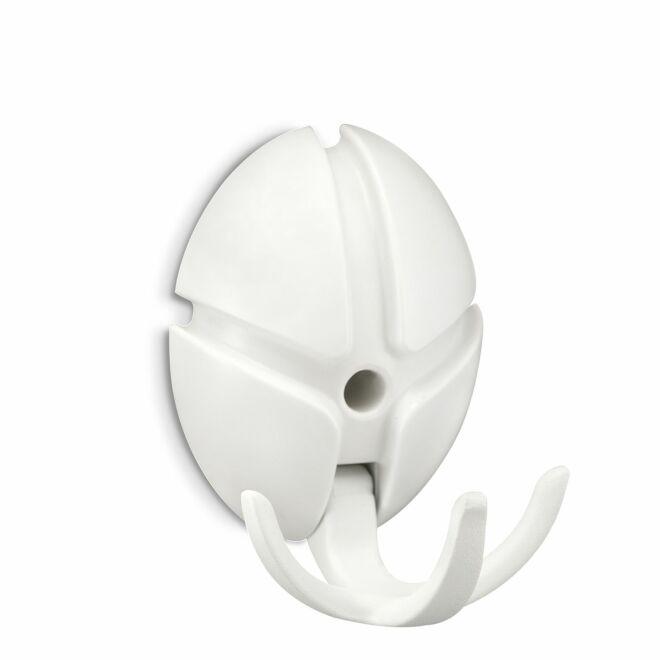 Tick wandkapstok Spinder Design wit - wit