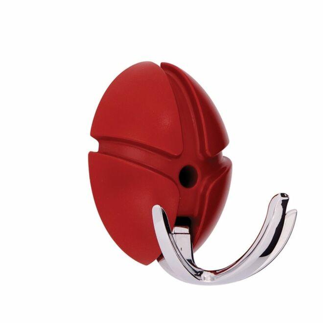 Tick wandkapstok Spinder Design chroom - rood