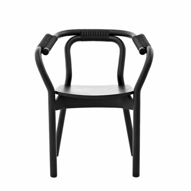 Knot eetkamerstoel Normann Copenhagen zwart - zwart