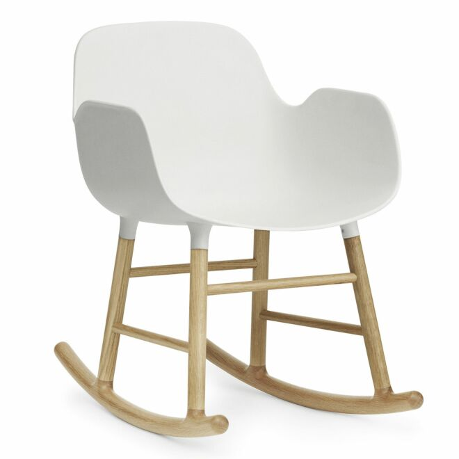 Form Rocking fauteuil Normann Copenhagen armleuning eiken wit